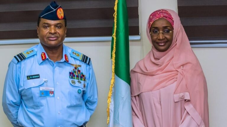 Nigeria Chief of Air Staff weds Minister for Humanitarian Affairs