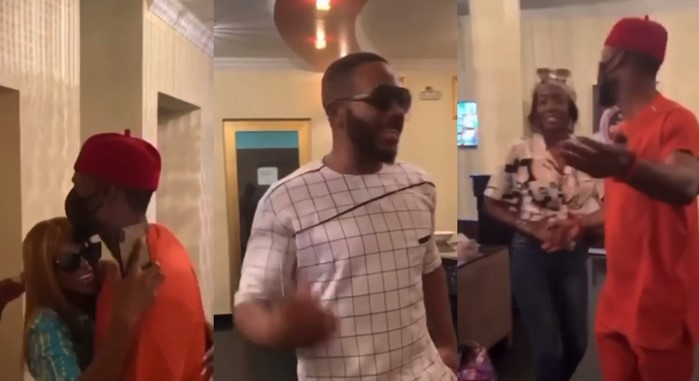 Kiddwaya, Prince spotted hanging out with Tolanibaj and Wathoni (Video)