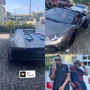 Olamide buys a brand new Lamborghini Aventador (Pictures)