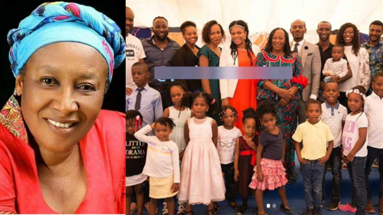 Patience Ozokwor celebrates her 14 grandchildren and 10 children