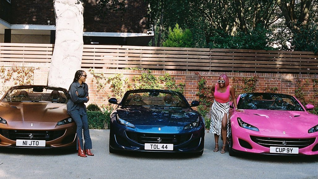 femi Otedola bought his girls Ferrari