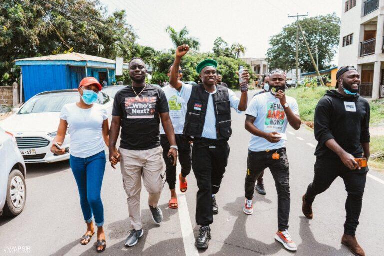 #EndSARS: Zlatan Ibile joins Protest in Ghana