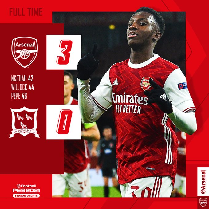 Arsenal vs Dundalk 3-0 Here is What Happened