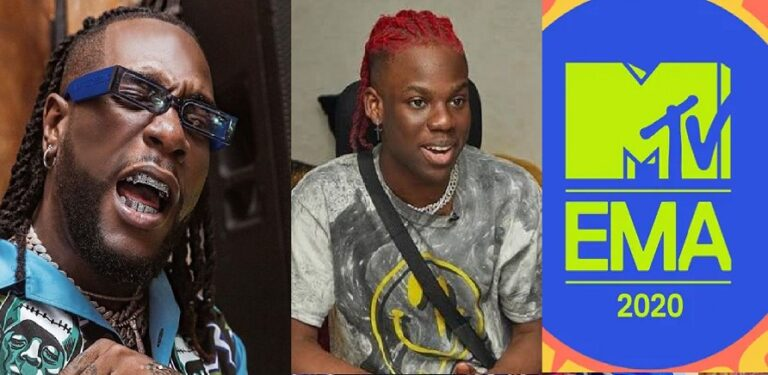 REMA and Burna Boy nominated for MTV EMA