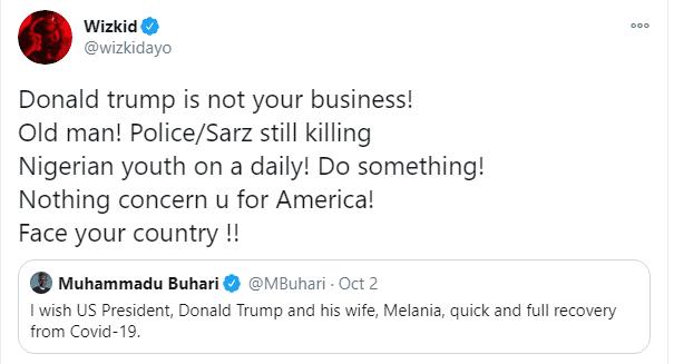 #EndSARS: Wizkid blasts Buhari