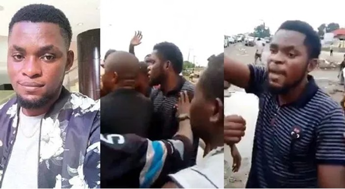 #EndSARS: protesters beat Mark Angel for trying to use them for skit video