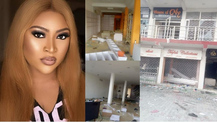 #EndSARS: Actress Uche Elendu cries out as hoodlums takes over her store