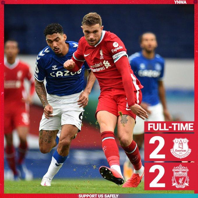 Everton vs Liverpool 2-2 – Highlights [DOWNLOAD VIDEO]