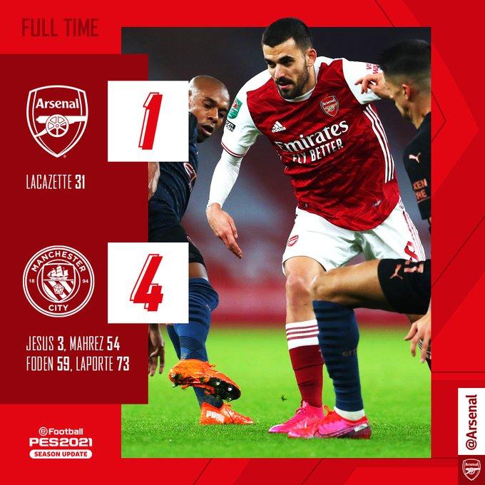 Arsenal vs Manchester City 1-4 Highlights • GLtrends.com.ng