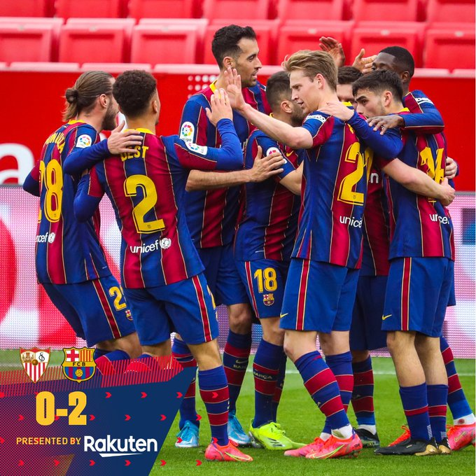 Sevilla vs Barcelona 0 -2 – Highlights [ DOWNLOAD VIDEO ]