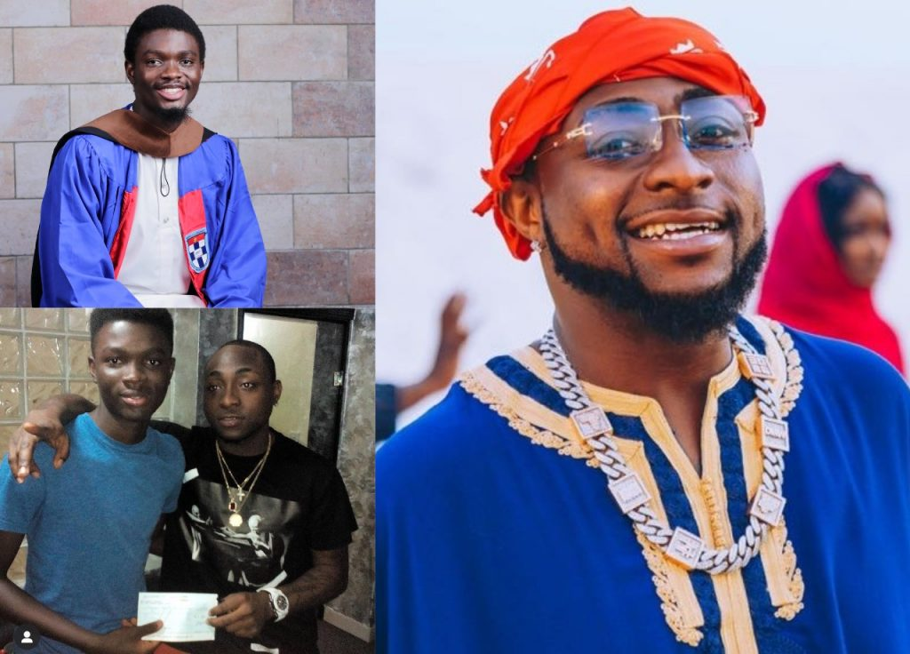 Young Man Sponsored to School by Davido Graduates with First Class ( Photo )